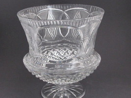 Hand Cut glass  trophy /  award for etching 24% lead crystal 12.5 lb - $828.78