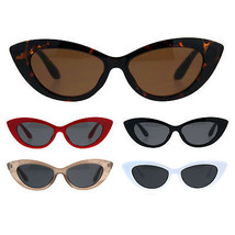 Womens Mod Retro Goth Plastic Cat Eye Minimal Sunglasses - $9.95