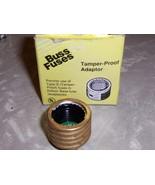 Buss Fustat Tamper-Proof Adapter Rejection Base Adapter15 amp SA-15 - $9.17