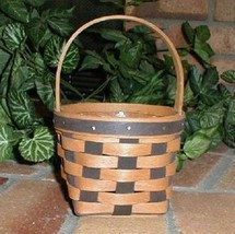 Longaberger 1987 Resolution Basket W Plastic Protector Mint Condition Ha... - $52.42