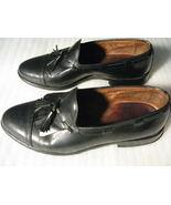 ALLEN EDMONDS Black Dalton Leather Slip-on Men's Tassel Loafers, Size 9.5 D - $55.00