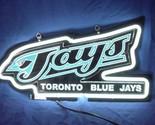 Sd277 toronto blue jays 3d beer bar white neon light sign 11   x 8   free shipping worldwide thumb155 crop