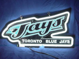"Toronto Blue Jays 3D Beer Bar White Neon Light Sign 11"" x 8"" - $199.00"