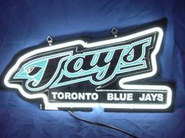 """Toronto Blue Jays 3D Beer Bar White Neon Light Sign 11"""" x 8"""" - $299.00"""