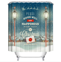 Christmas Natal 39 Shower Curtain Waterproof Polyester Fabric For Bathroom Decor - $33.30+