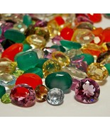 100+ CARATS MIXED LOOSE GEMSTONES NATURAL GEM MIX LOT WHOLESALE LOOSE GE... - $19.99