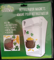 Lucky Irish POT O GOLD SHAMROCKS PUZZLE MAGNETS Refrigerator Car Door De... - $4.92