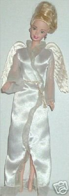CE BARBIE Angel Doll Blonde up do gown w/Wings