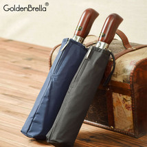 GoldenBrella® Imitation Wood Handle Umbrella For Men High Quality Automatic - $39.44
