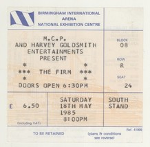 Cool THE FIRM 5/18/85 Birmingham England Ticket Stub! Led Zeppelin Jimmy... - $14.84