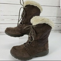 Columbia fur lined brown winter boots size 7 - $46.71