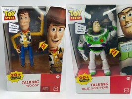 Toy Story Talking Woody + Buzz Lightyear 7 inch Action Figures (20+ Sounds) - $84.14