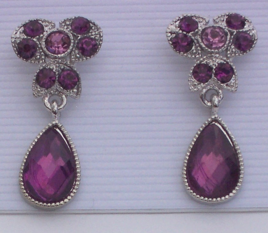 Purple earrings 2