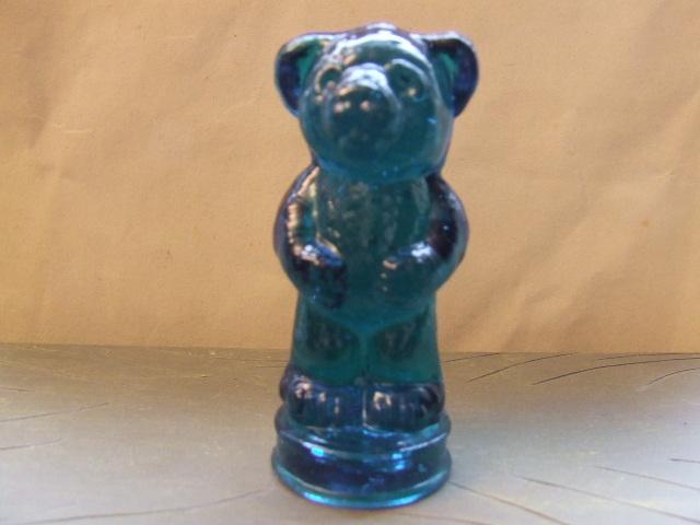 Boyd Crystal Art Glass Andy Bear Figurine New
