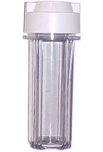 """Clear Polycarbonate Filter Housing Standard 10"""" Cartridge 1/2"""" opening~1... - $14.95"""