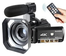Movie Video Camera Camcorder 4k Ultra-HD Recorder 24MP 30X Digital Zoom ... - $218.52