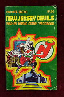 Primary image for 1982/83 New Jersey Devils Media Guide Yearbook 1st Year Devils Premier Edition