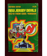 1982/83 New Jersey Devils Media Guide Yearbook 1st Year Devils Premier E... - $21.77
