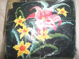 Needlepoint Pillow Kit: Comes with Yarn, Canvas & Directions  - $20.00