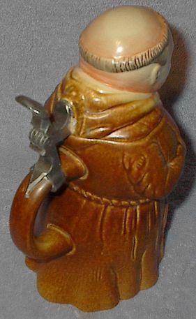 West German King Frier Monk Lidded Beer Stein Mug