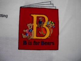 Cotton Fabric Teddy Bear Book Panels - $6.00