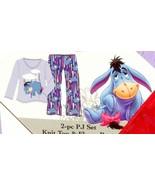 Disney Eeyore Under the Weather 2 Piece Ladies Pajamas SZ Med Purple NEW - $29.99
