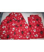 Ladies Moon Dance 2 Piece Pajama Set Scotty Dogs Snowflakes Red SZ LG NEW - $24.99