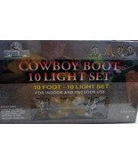 Western Cowboy Boot Light Set String Lights Indoor Outdoor 10 Lights Boo... - $20.00