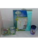 Disney Fairies Tinker Bell Bath Set Shower Curtain Hooks  Toothbrush Hol... - $45.00