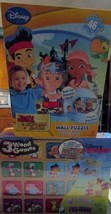 Disney Jake & the Neverland Pirates Wall Puzzle + 3 Wood Games Set of 2 NEW - $21.99