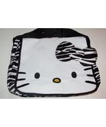 Hello Kitty Tote Bag Handbag Zebra Pattern Kitty Face Large Fab Point NEW - $16.99