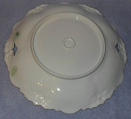 R S Prussia Unmarked Porcelain Large Bowl Plate