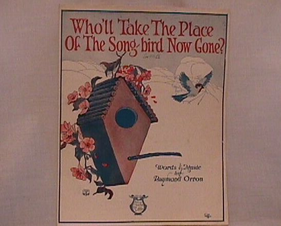 The Song Bird Vintage Sheet Music