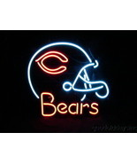 "NFL Chicago Bears Football Helmet Beer Bar Neon Light Sign 19""x17"" Free Shipping - $159.00"