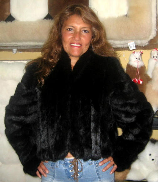 chinchilla pelt, fur,cincilla jacket coat, black outerwear