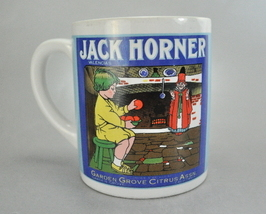 1986 Mann Jack Horner Coffee Mug Cup Garden Grove Citrus CA - $7.75