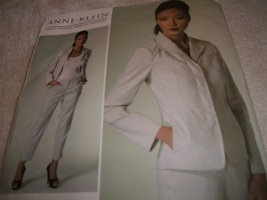 Designer Woman's Jacket & Pants Pattern Vogue 1293 Anne Klein - $12.00