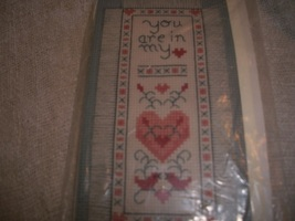 Counted Cross Stitch Bookmark Kit: Comes with Fabric, Floss, Ribbon, Chart & Dir - $7.00