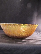 "WEAVETEC 9"" Serving Bowl Marigold Amber Iridesc... - $22.44"