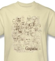 Grimm T-shirt Free Shipping Wesen TV show 100% cotton graphic tee nbc675 image 1