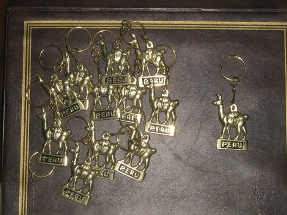Lot of 20 Keyholder, bronze, Alpaca design,wholesale