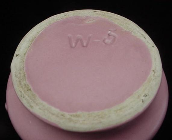 Antique Pink Matte Art Pottery Vase w/Art Deco Handles NICE