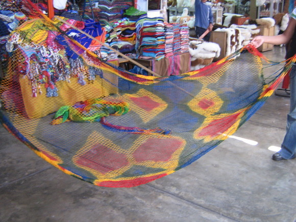 Colorful hammok from the Amazon area of Peru