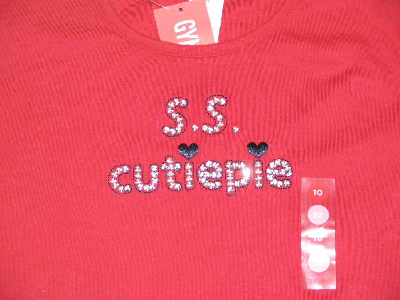 NWT Gymboree Bon Voyage RED SS CUTIE PIE TOP SHIRT S 10
