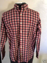 BOY'S YOUTH RALPH LAUREN BUTTON-UP RED CHECKERED/PLAID LONG SLEEVE SHIRT... - $19.99