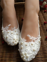 Embellished shoes ivory wedding shoes Women's Bridal Shoes UK Size 2,3,4,5,6,7,8 - $38.00