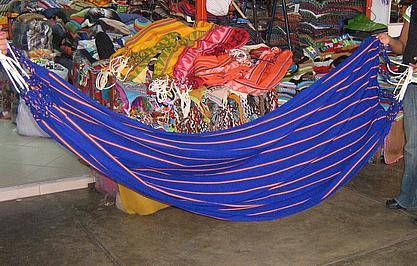 Colorful hammok from the Amazonas