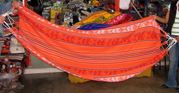 Colorful hammok from the Amazon of Peru