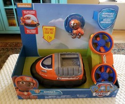 NEW Paw Patrol Zuma's Deluxe Hovercraft Spinning Propellers Pull Back Ve... - $25.00