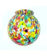 AS IS Art Deco Lamp Shade Globe Glass Figural R... - $29.95